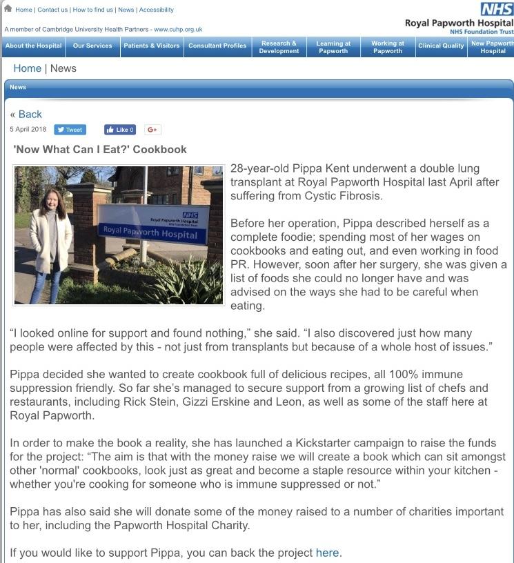 Papworth website